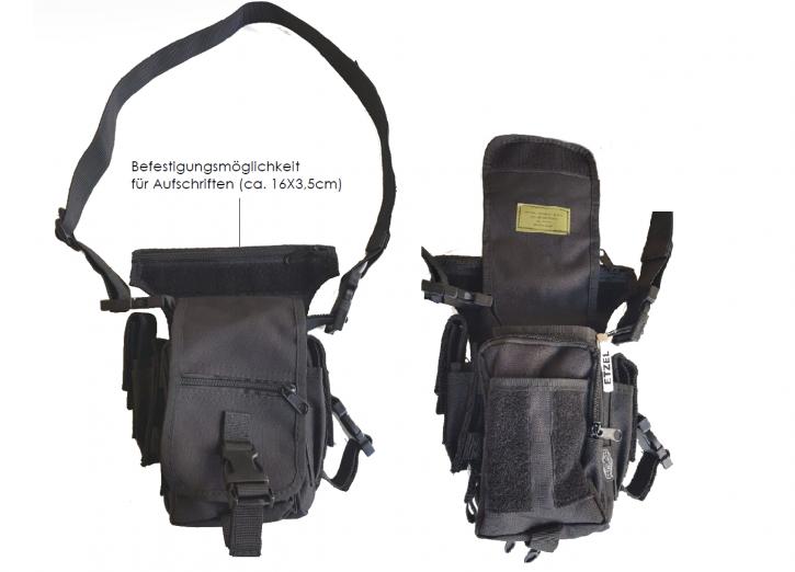 Schulter-Umhängetasche, schwarz