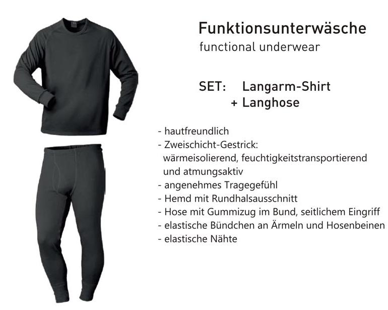 Funktions Unterwäsche-Set