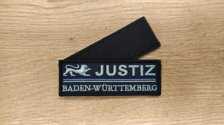 Gesticktes Abzeichen mit Klett Justiz Baden-Württemberg Signet